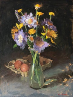 Purple Flowers and Eggs