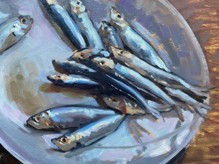 Sardines on a Plate For Sale 2