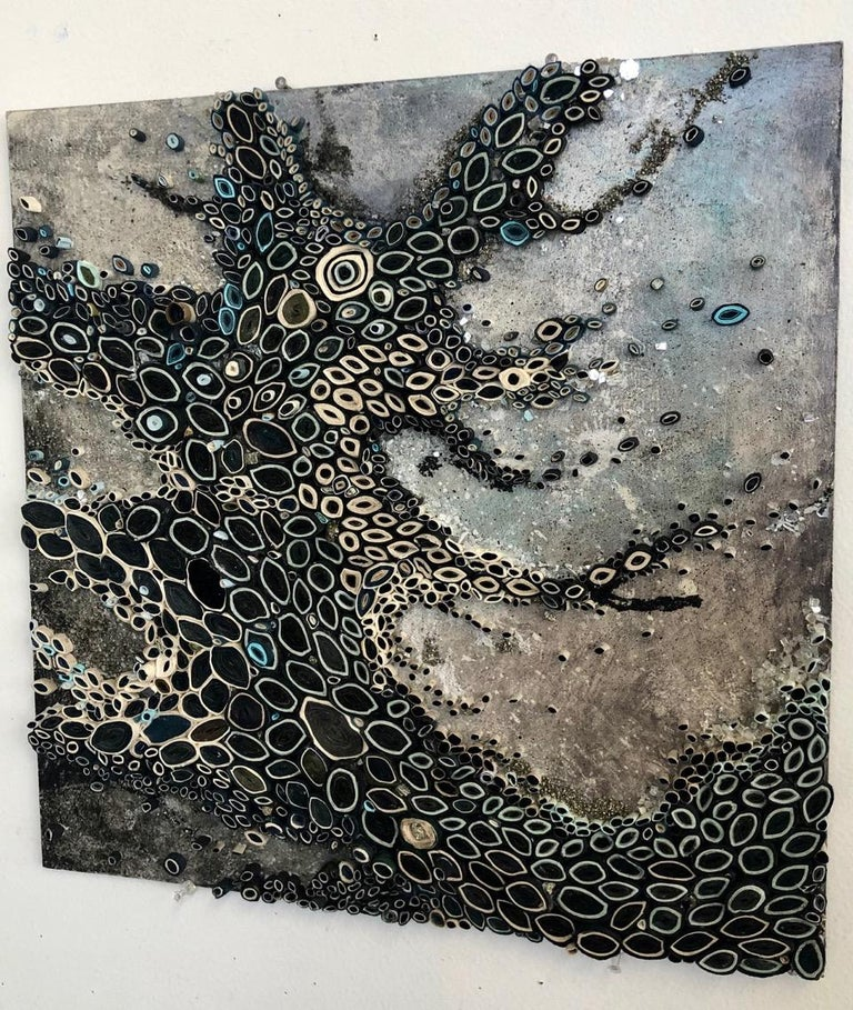 Crushing On It - Contemporary Mixed Media Art by Amy Genser