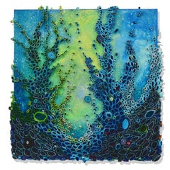 Emerge - contemporary modern organic sculpture painting relief