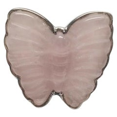 Amy Kahn Russell Carved Pink Quartz Butterfly Ring