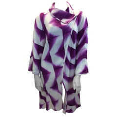 Amy Nguyen Purple and White Print Jacket