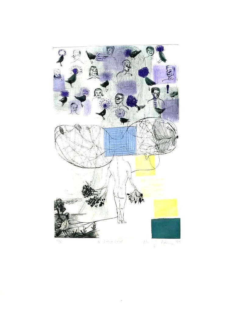 A Field Guide - Contemporary Print by Amy Sillman