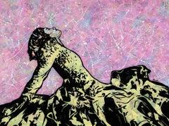 """Free""-Magazine Collage, Acrylic & Spray Paint on Canvas"