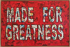 """Made For Greatness""-Magazine Collage, Acrylic & Spray Paint on Canvas"