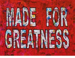 """""""Made For Greatness""""-Magazine Collage, Acrylic & Spray Paint on Canvas"""