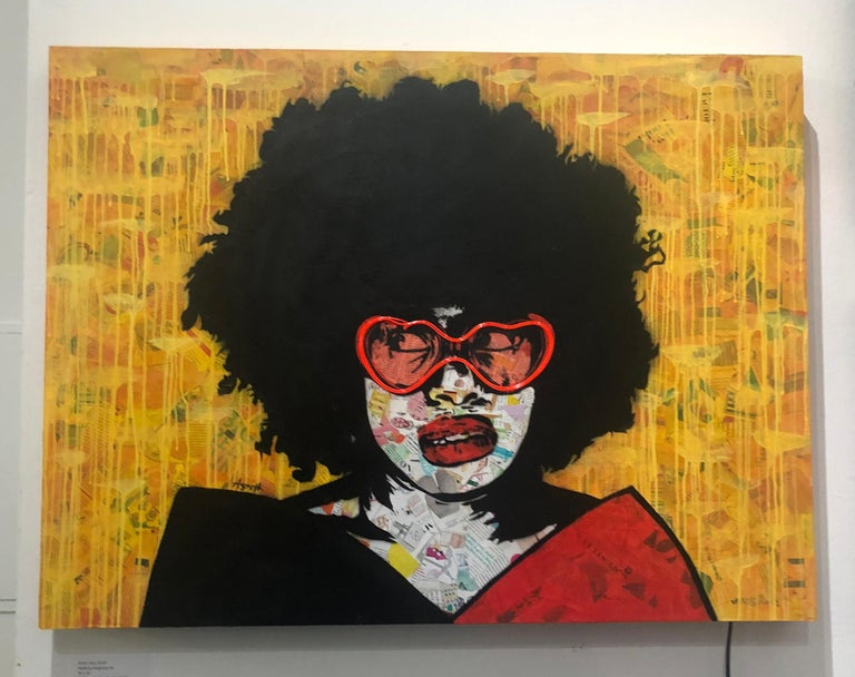 Amy Smith is a self-educated mixed media artist born in New Jersey. Currently living in Los Angeles, her inspirations vary from classic Van Gogh to hip hop to street art.   Activism is also a very important part of her life and influences her work.