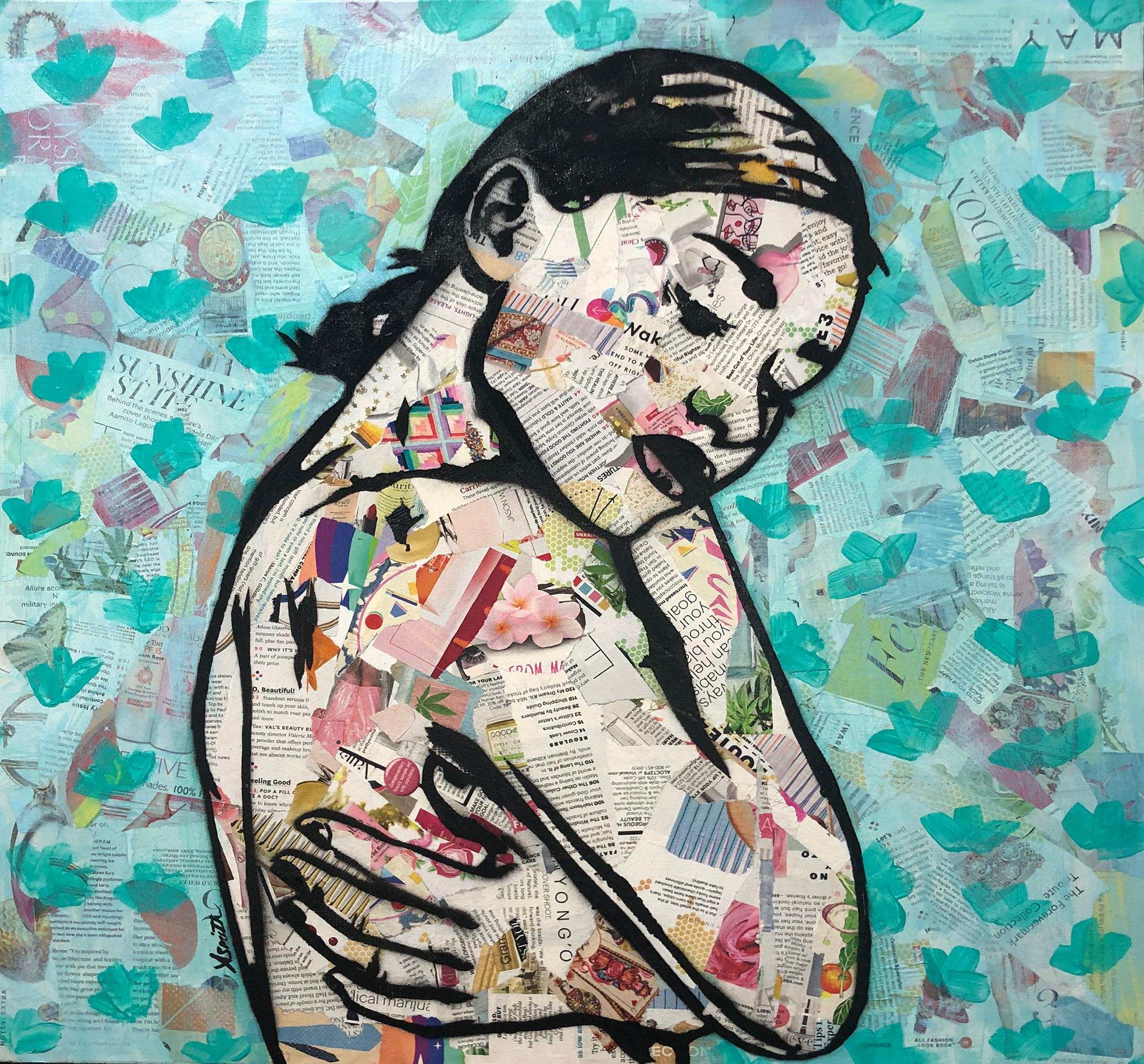 Amy Smith Real Love Mixed Media Collage And Acrylic