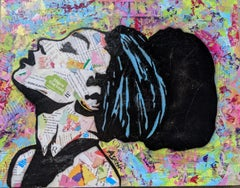 Share the Love -Street Art Painting of Black Woman Impressionist
