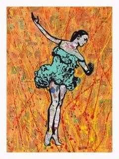 """""""Fire Dancer""""  Framed Giclee Print"""