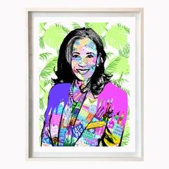 Kamala Harris - Framed Contemporary POP Art Portrait of Vice President Elect