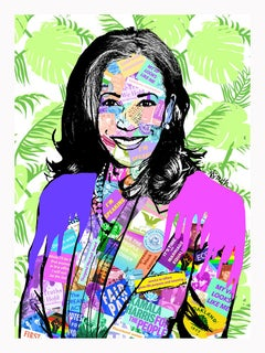 Kamala Harris - Framed Contemporary POP Art Portrait of Vice President Elect
