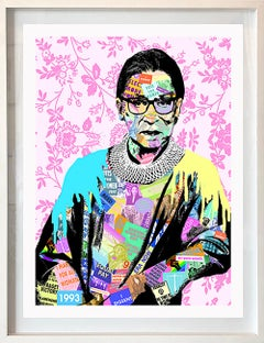 RGB- Contemporary POP Art Portrait of Ruth Bader Ginsberg  Supreme Court Justice