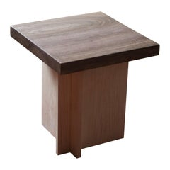 Amy Walnut and Maple Side Table / Stool