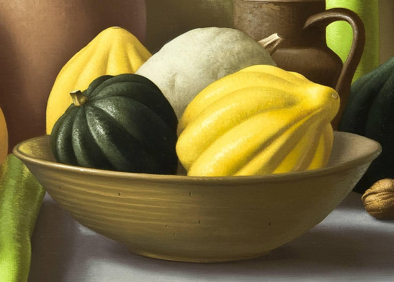 Still Life with Squash - Painting by Amy Weiskopf