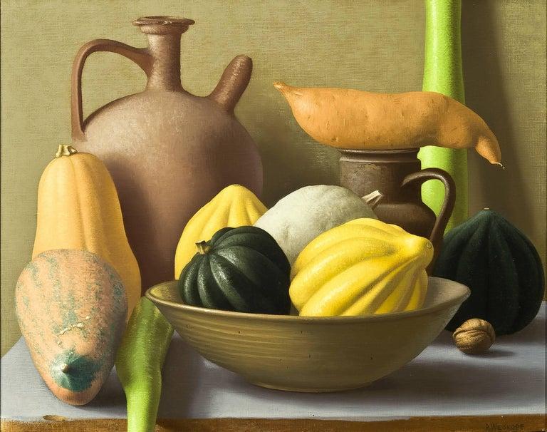 Amy Weiskopf Still-Life Painting - Still Life with Squash