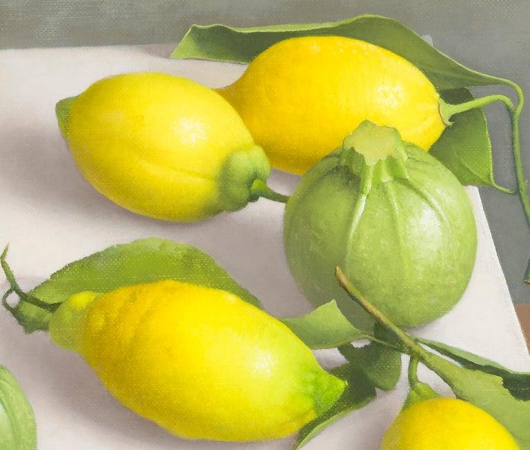 Zucchini and Lemons - Painting by Amy Weiskopf