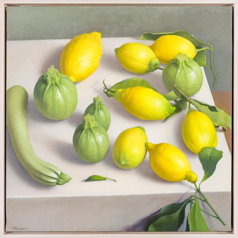 Amy Weiskopf was born in Chicago in 1957, and received her M.F.A. from the Tyler School of Art, Temple University, PA. Though Weiskopf is a master of the still life genre, her paintings are anything but traditional. Absent are the conventional