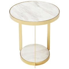 Amy White Side Table