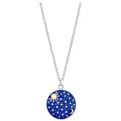 Amy Y 18 Karat Gold and Enamel Contemporary Pendant Necklace 'Harper'