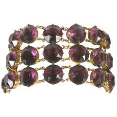 Amythest Crystal Link Bracelet