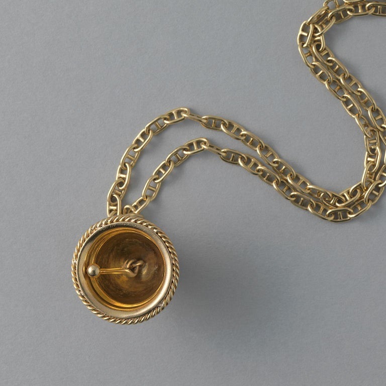 Women's or Men's 18 Carat Yellow Gold Van Cleef & Arpels Bell Charm For Sale