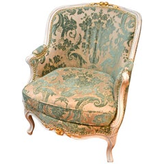 18th Century Louis XV Gondola Armchair after a Model by Gourdin