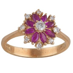 18 Carat Gold Ruby and Diamond Ring