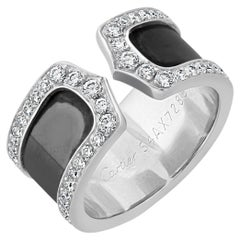 18k White Gold & Diamond 'Double C de Cartier' Ring