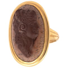 18th-19th Century Agate Cameo of a Gryllus Ring