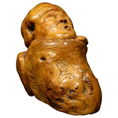 An Intriguing 18th Century Carved Burl Wood Treen Figure, Continental Circa 1740