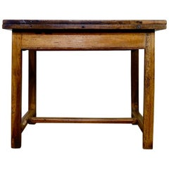 18th Century French Fruitwood Provincial Folding Farmhouse Extending Table