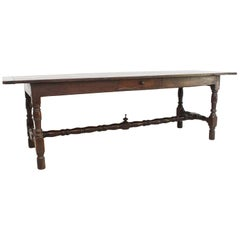 18th Century French Oak Refectory Dining Table