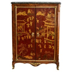 18th Century French Ormolu and Chinese Lacquer-Mounted Kingwood Cabinet