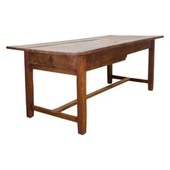 18th Century George III Oak Country Farmhouse Table, Refectory