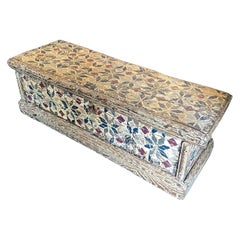 An 18th Century Lacquered Fruit Wood Tuscan Blanket Chest