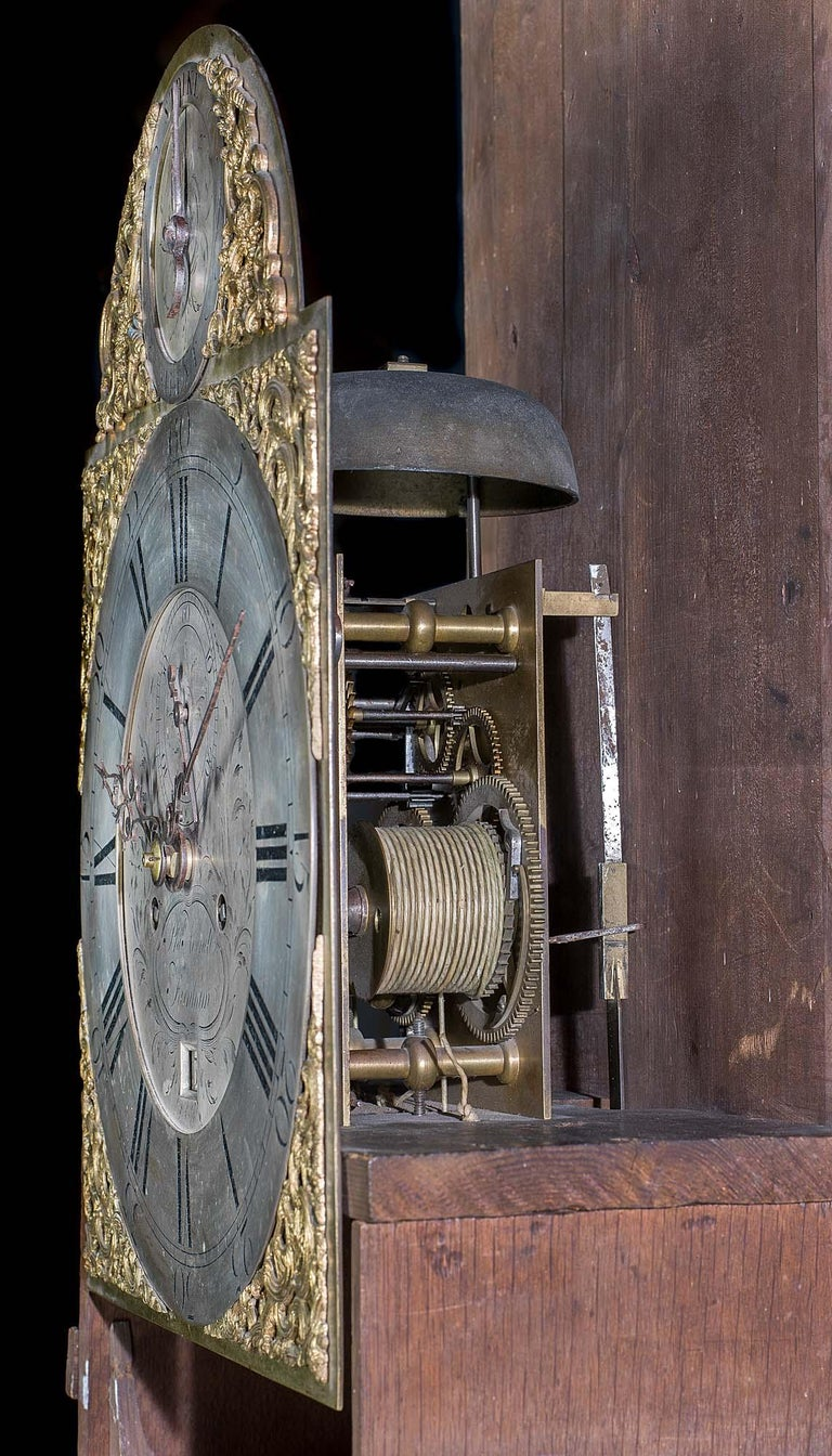 18th Century Longcase Clock with Chinoiserie Lacquer For Sale 1