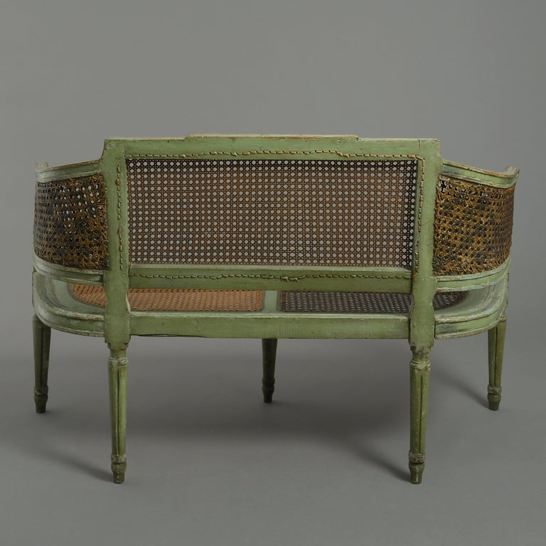 Neoclassical 18th Century Painted Canapé Sofa For Sale