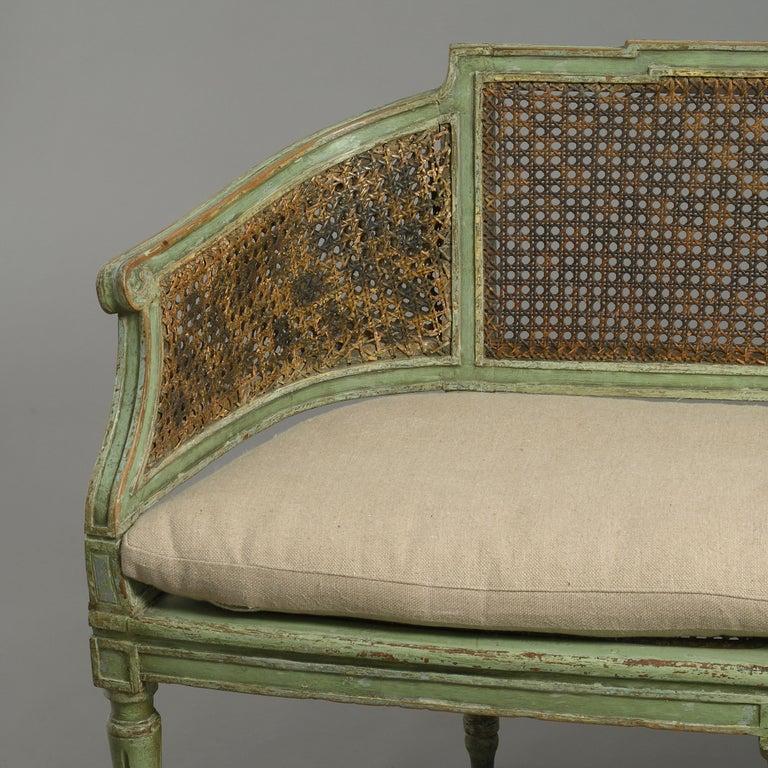 Italian 18th Century Painted Canapé Sofa For Sale