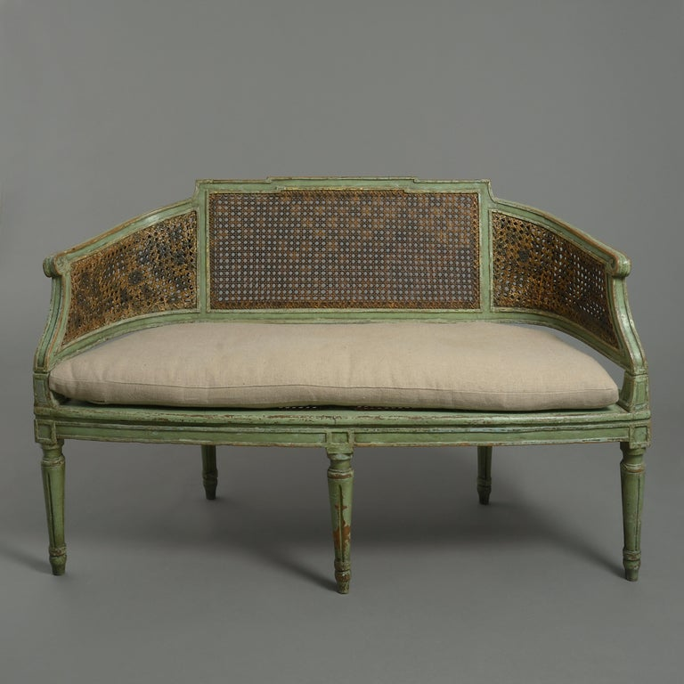 18th Century and Earlier 18th Century Painted Canapé Sofa For Sale