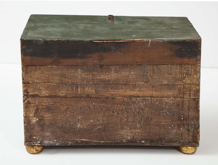 18th Century Polychrome and Parcel-Gilt Spanish Colonial Vargueno For Sale 9