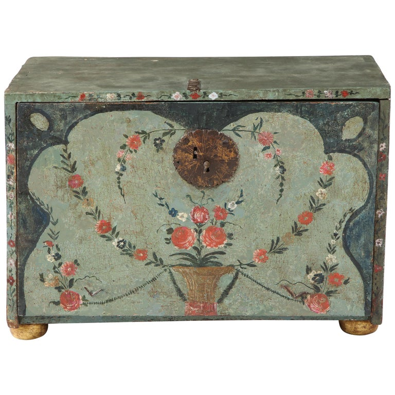 18th Century Polychrome and Parcel-Gilt Spanish Colonial Vargueno For Sale