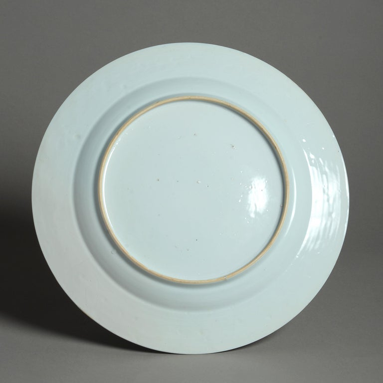 18th Century Qianlong Period Blue and White Porcelain Charger In Good Condition For Sale In London, GB