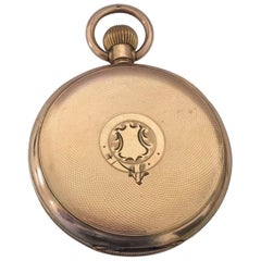 An 8 Days Swiss Made Hebdomas Visible Escapement Gold-Plated Pocket Watch