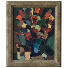 An abstract painting by M. Curtichiato