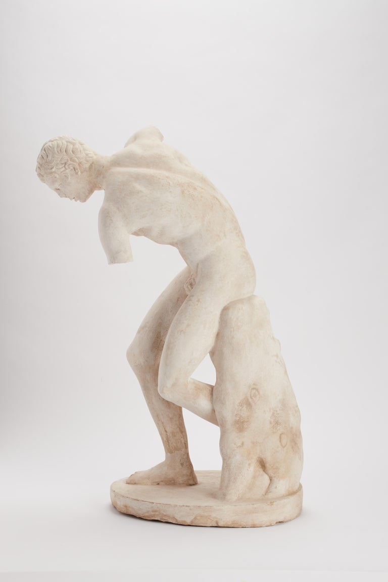 Italian Academic Cast Depicting a Discus Thrower, Italy, 1890 For Sale