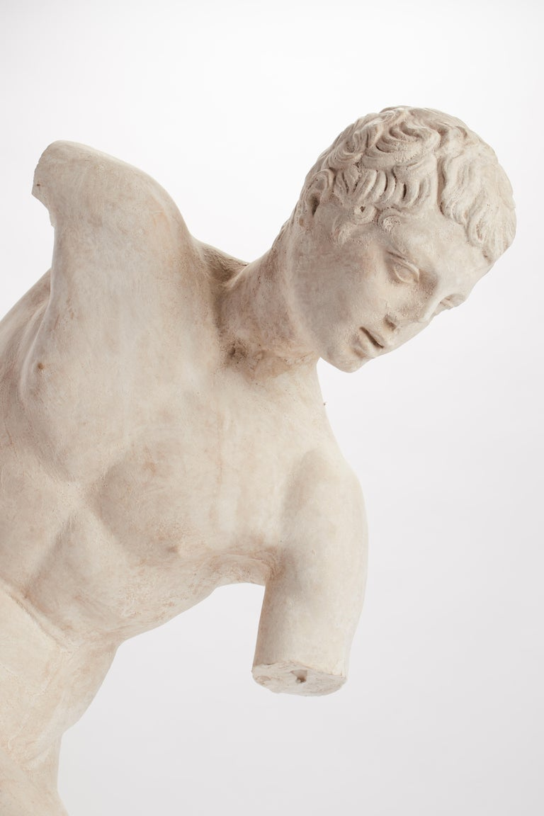 Late 19th Century Academic Cast Depicting a Discus Thrower, Italy, 1890 For Sale