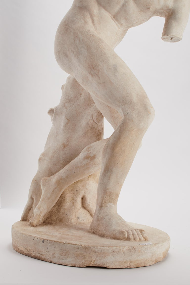 Plaster Academic Cast Depicting a Discus Thrower, Italy, 1890 For Sale