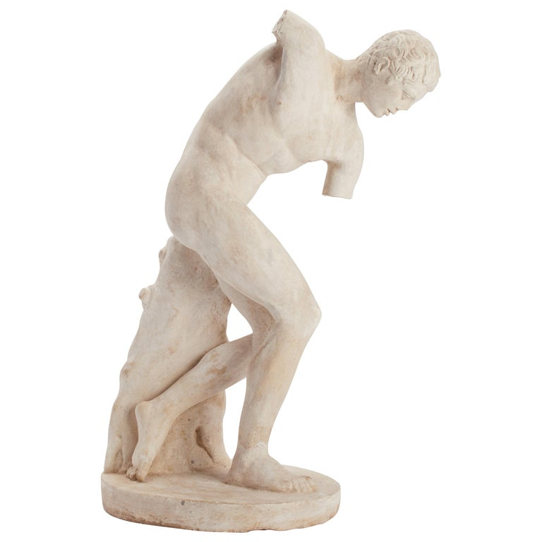 Academic Cast Depicting a Discus Thrower, Italy, 1890 For Sale
