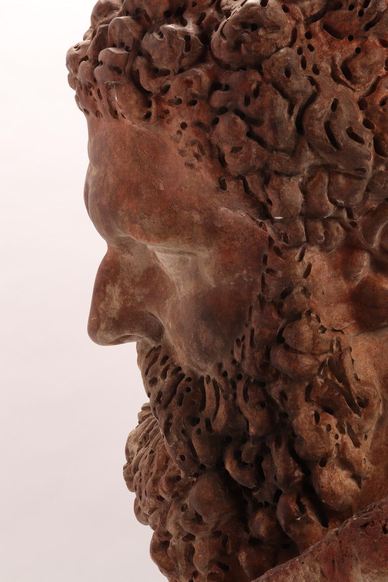 Academic Cast Depicting Hercules Head, Italy, 1880 For Sale 4